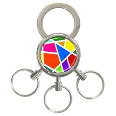 Geometric Blocks 3-Ring Key Chains