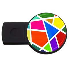 Geometric Blocks USB Flash Drive Round (2 GB)