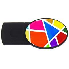 Geometric Blocks USB Flash Drive Oval (1 GB)