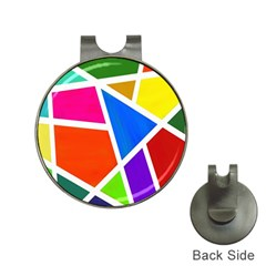 Geometric Blocks Hat Clips with Golf Markers