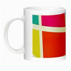 Geometric Blocks Night Luminous Mugs