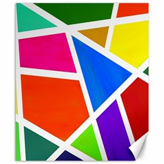 Geometric Blocks Canvas 8  x 10