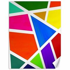 Geometric Blocks Canvas 18  x 24