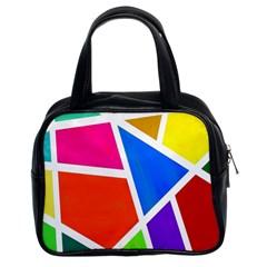Geometric Blocks Classic Handbags (2 Sides)