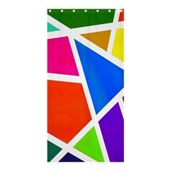 Geometric Blocks Shower Curtain 36  x 72  (Stall)