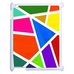 Geometric Blocks Apple iPad 2 Case (White)