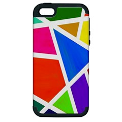 Geometric Blocks Apple Iphone 5 Hardshell Case (pc+silicone)