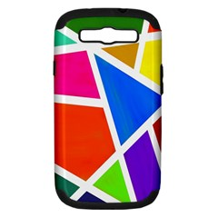 Geometric Blocks Samsung Galaxy S III Hardshell Case (PC+Silicone)