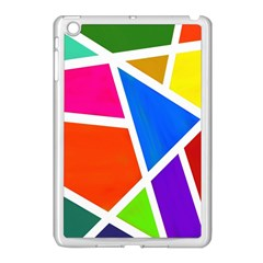 Geometric Blocks Apple iPad Mini Case (White)