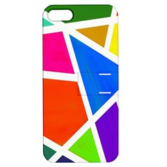Geometric Blocks Apple iPhone 5 Hardshell Case with Stand