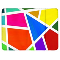 Geometric Blocks Samsung Galaxy Tab 7  P1000 Flip Case