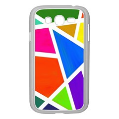 Geometric Blocks Samsung Galaxy Grand DUOS I9082 Case (White)