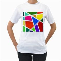 Geometric Blocks Women s T Shirt (white)