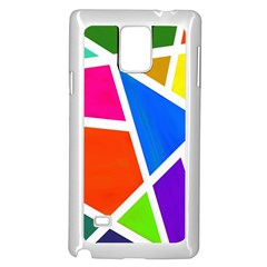 Geometric Blocks Samsung Galaxy Note 4 Case (White)