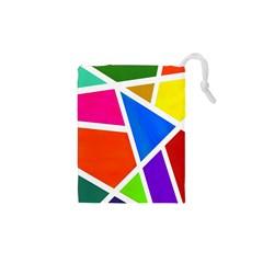 Geometric Blocks Drawstring Pouches (XS)