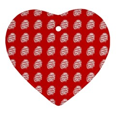 Happy Chinese New Year Pattern Ornament (Heart)