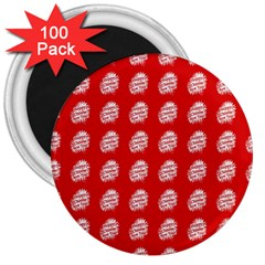 Happy Chinese New Year Pattern 3  Magnets (100 pack)