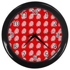 Happy Chinese New Year Pattern Wall Clocks (Black)