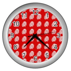 Happy Chinese New Year Pattern Wall Clocks (Silver)