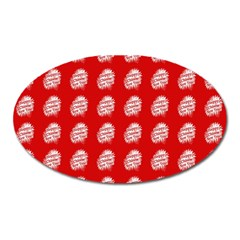 Happy Chinese New Year Pattern Oval Magnet