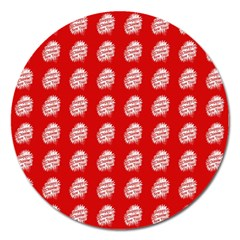 Happy Chinese New Year Pattern Magnet 5  (Round)