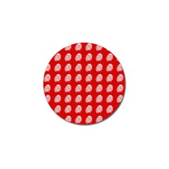 Happy Chinese New Year Pattern Golf Ball Marker (4 pack)