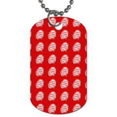 Happy Chinese New Year Pattern Dog Tag (Two Sides)