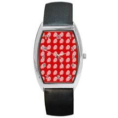 Happy Chinese New Year Pattern Barrel Style Metal Watch