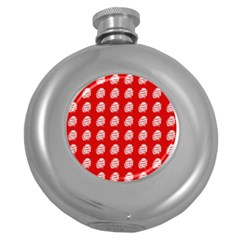 Happy Chinese New Year Pattern Round Hip Flask (5 oz)