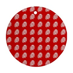 Happy Chinese New Year Pattern Round Ornament (Two Sides)