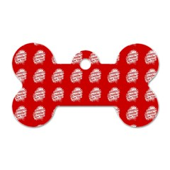 Happy Chinese New Year Pattern Dog Tag Bone (One Side)