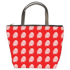 Happy Chinese New Year Pattern Bucket Bags
