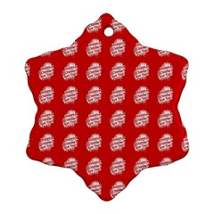 Happy Chinese New Year Pattern Snowflake Ornament (Two Sides)