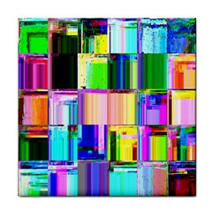 Glitch Art Abstract Tile Coasters