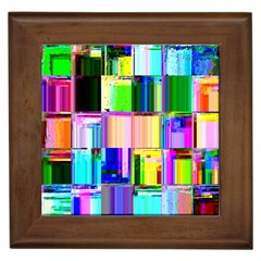 Glitch Art Abstract Framed Tiles