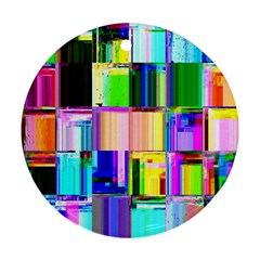 Glitch Art Abstract Ornament (Round)