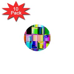 Glitch Art Abstract 1  Mini Magnet (10 pack)