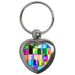 Glitch Art Abstract Key Chains (Heart)