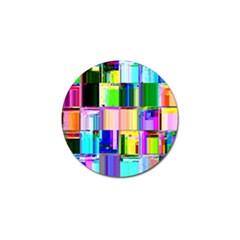 Glitch Art Abstract Golf Ball Marker