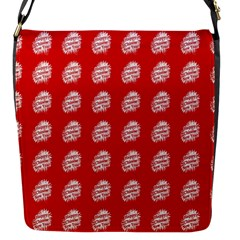 Happy Chinese New Year Pattern Flap Messenger Bag (S)