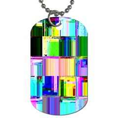 Glitch Art Abstract Dog Tag (Two Sides)