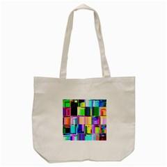 Glitch Art Abstract Tote Bag (Cream)