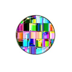 Glitch Art Abstract Hat Clip Ball Marker