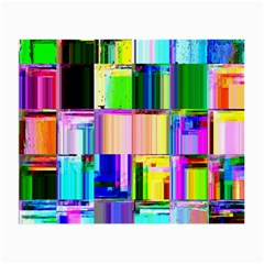 Glitch Art Abstract Small Glasses Cloth