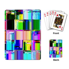Glitch Art Abstract Playing Card