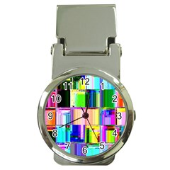 Glitch Art Abstract Money Clip Watches