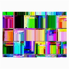 Glitch Art Abstract Large Glasses Cloth