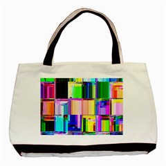 Glitch Art Abstract Basic Tote Bag (Two Sides)
