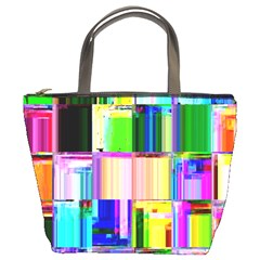 Glitch Art Abstract Bucket Bags