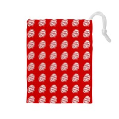Happy Chinese New Year Pattern Drawstring Pouches (Large)